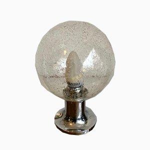 Tischlampe mit Glaskugel, 1970er