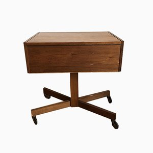 Mid-Century Wooden Sewing Box, 1960s