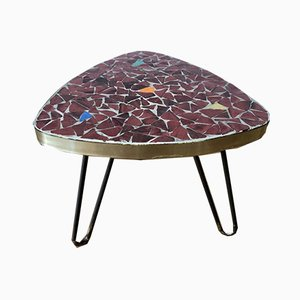 Mid-Century Flower Stool with a Mosaic Plate, 1960s