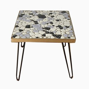 Mid-Century Flower Stool with a Slab of Mosaic, 1960s