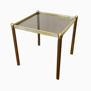 Mid-Century Golden Side Table in Brass, 1970s