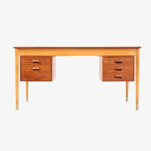 Vintage Two Tone Desk by B. Mogensen for Søborg Møbelfabrik, 1950