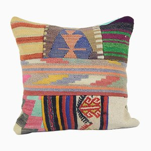 Handwoven Turkish Patchwork Cushion Cover
