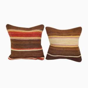 Striped Organic Hemp Cushion Covers, Set of 2