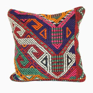 Turkish Cicim Kilim Cushion Cover