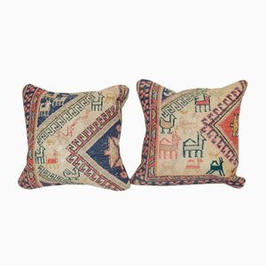 Animal Turkish Soumak Cushion Covers, Set of 2