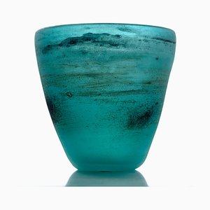 Mid-Century Scavo Vase aus Muranoglas von Cenedese