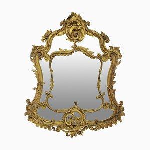 18th Century Rococo Giltwood Mirror