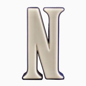 Mid-Century Illuminated Serif N Sign, 1960s