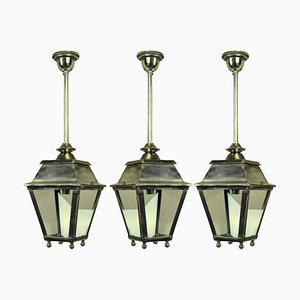 Silver Hall Lanterns, 1930s, Set of 3