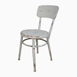 19th Century Rustic Swedish White Bentwood Dining Chair