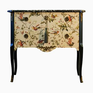 Vintage Louis XV Hummingbirds Chest of Drawers