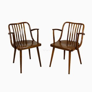 Czech Wooden Dining Chairs by Antonin Suman for TON, 1960s, Set of 2