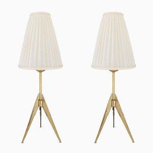 Tischlampen von JT Kalmar, 1950er, 2er Set