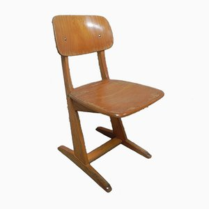 Wooden School Chair from Casala, 1960s