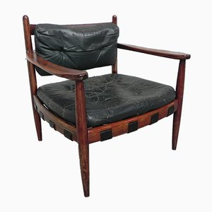Rosewood Armchair by Arne Norell, 1950s