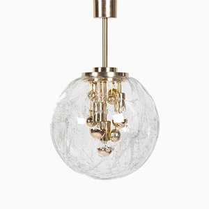 Large Model Planets Glass Ball Pendant Lamp by Ger Furth for Doria Leuchten, 1960s