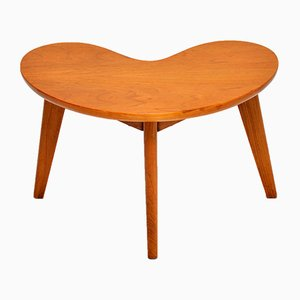 Vintage Walnut Boomerang Side Table, 1960s