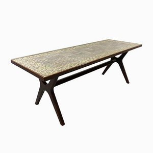 Large German Mosaic Coffee Table by Berthold Müller-Oerlinghausen, 1950s