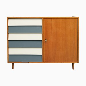 Light Oak Veneer Chest of Drawers, 1950s