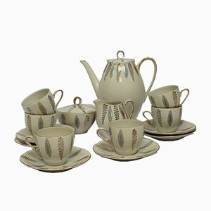 German Porcelain Coffee Set from Wintarling, 1950s, Set of 15