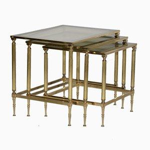 Vintage Brass Nesting Tables, 1970s