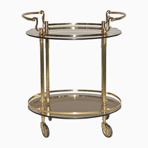 Vintage Brass and Glass Drinks Trolley