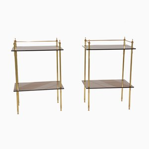 Hollywood Regency Style Side Tables, 1970s, Set of 2