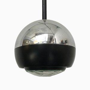Lampade a sospensione modello nr. 1230 vintage in vetro e acciaio di Stilnovo, Italia, anni '60, set di 2