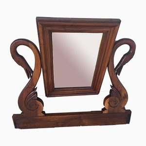 Vintage Empire Style Walnut Mirror