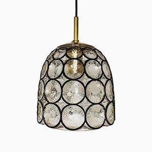 Iron Ring Glass Pendant Lamp from Limburg, 1960s