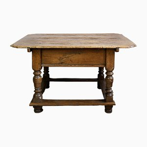 18th Century Rustic Baroque Carved Dining Table