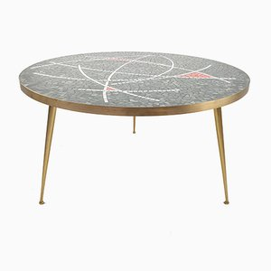 Large Round Mosaic Coffee Table by Berthold Müller, 1950s