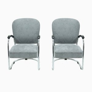 Model 436 Armchairs by Paul Schuitema for Fana Rotterdam, 1930s, Set of 2