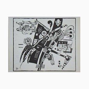 Composition Original Holzschnitt von Wassily Kandinsky, 1935