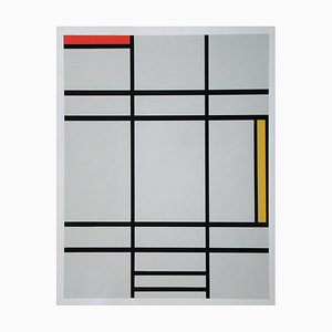 Composition with Red and Yellow Screen Print in Color after Piet Mondrian, 1978