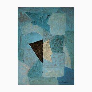 Serge Poliakoff, Blue Composition, 1970, Ausstellungsplakat