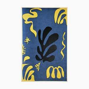 Composition on Blue Background Lithograph after Henri Matisse, 1954