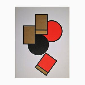 Composition Screen Print by Erich Buchholz, 1920
