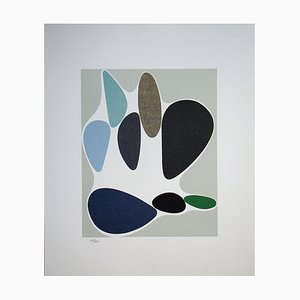 Sauzon Limited Edition Lithograph by Victor Vasarely, 1972