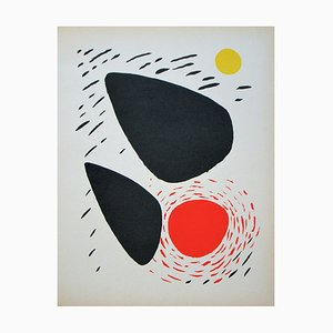 Composition Lithograph in Colors by Alexander Calder, 1952