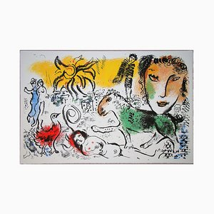 The Green Horse Lithograph by Marc Chagall, 1973