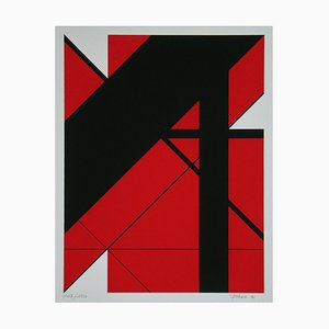 Composition Serigraph by Charles Bézie, 1991