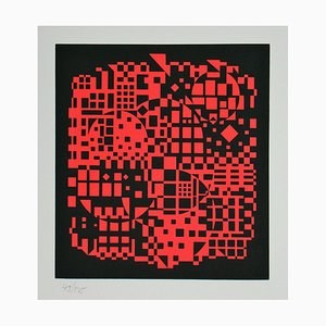 Sikkaso Serigraph by Victor Vasarely, 1988