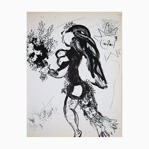 The Offering Lithograph by Marc Chagall, 1960