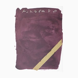 Llambrec 13 Lithographie von Antoni Tàpies, 1975