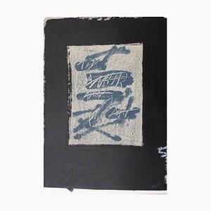 Llambrec 17 Lithografie von Antoni Tàpies, 1975