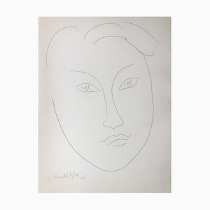 Head of Young Boy Etching by Henri Matisse, 1945