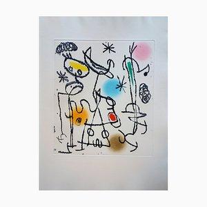 Painted Words Engraving by Joan Miró, 1967