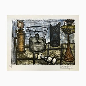 Oil Lamp Lithograph by Bernard Buffet, 1954